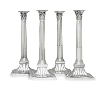 A SET OF FOUR DUTCH SILVER CAN