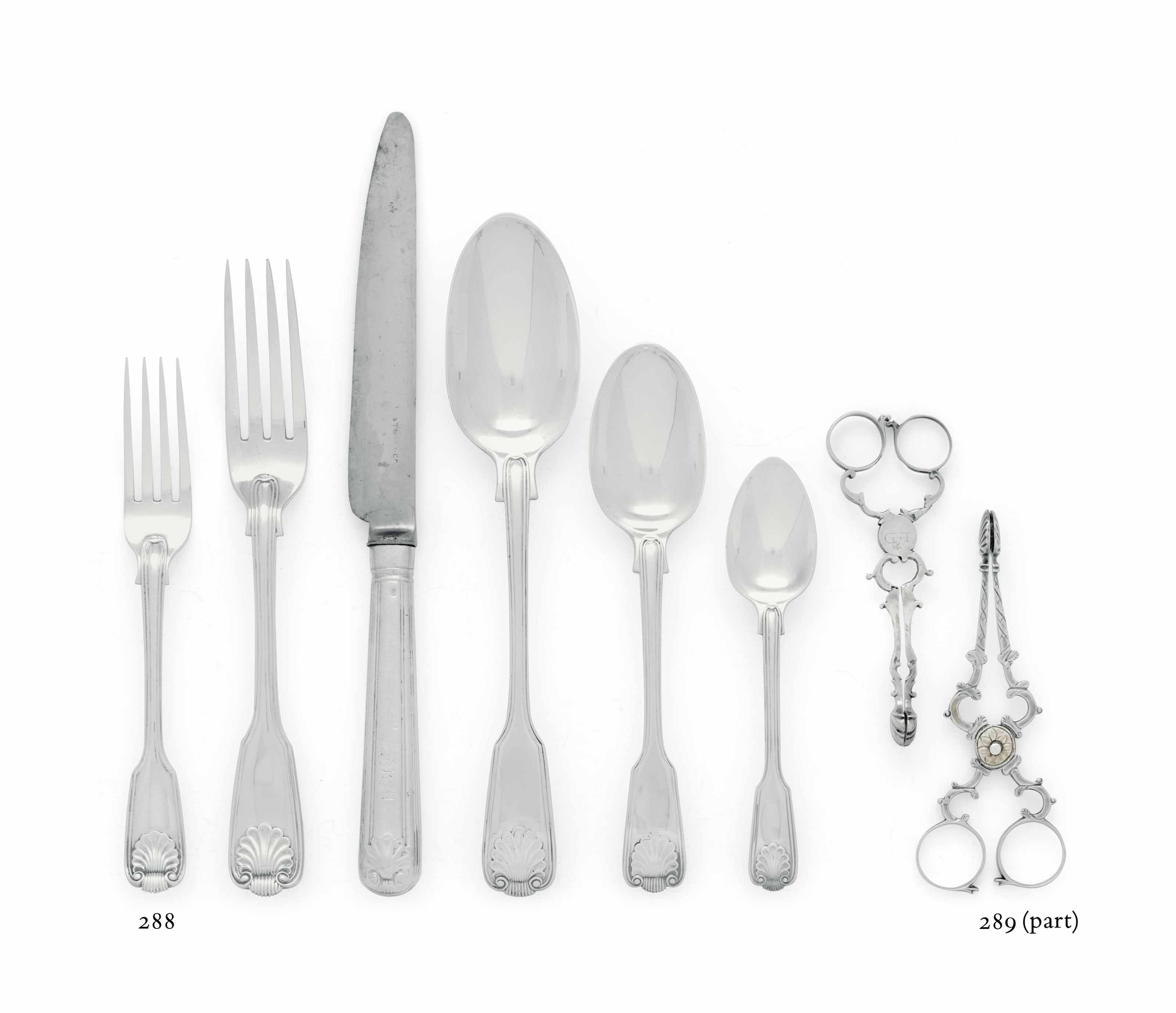 SEVEN PAIRS OF GEORGIAN SILVER