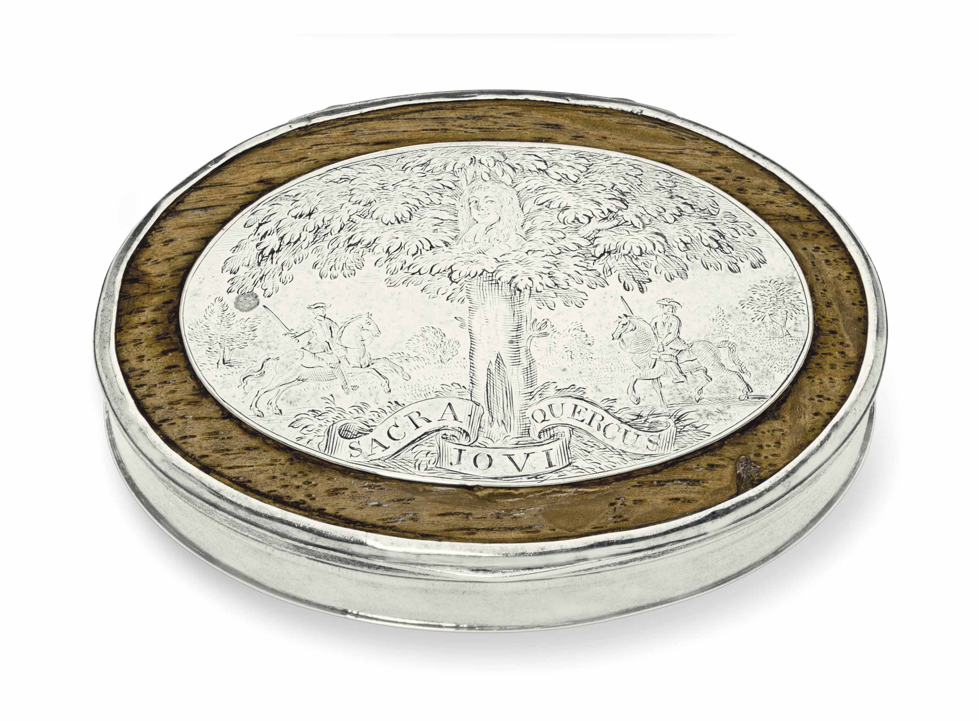 A QUEEN ANNE SILVER AND OAK SN