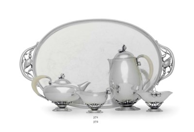 A DANISH SILVER FOUR-PIECE TEA