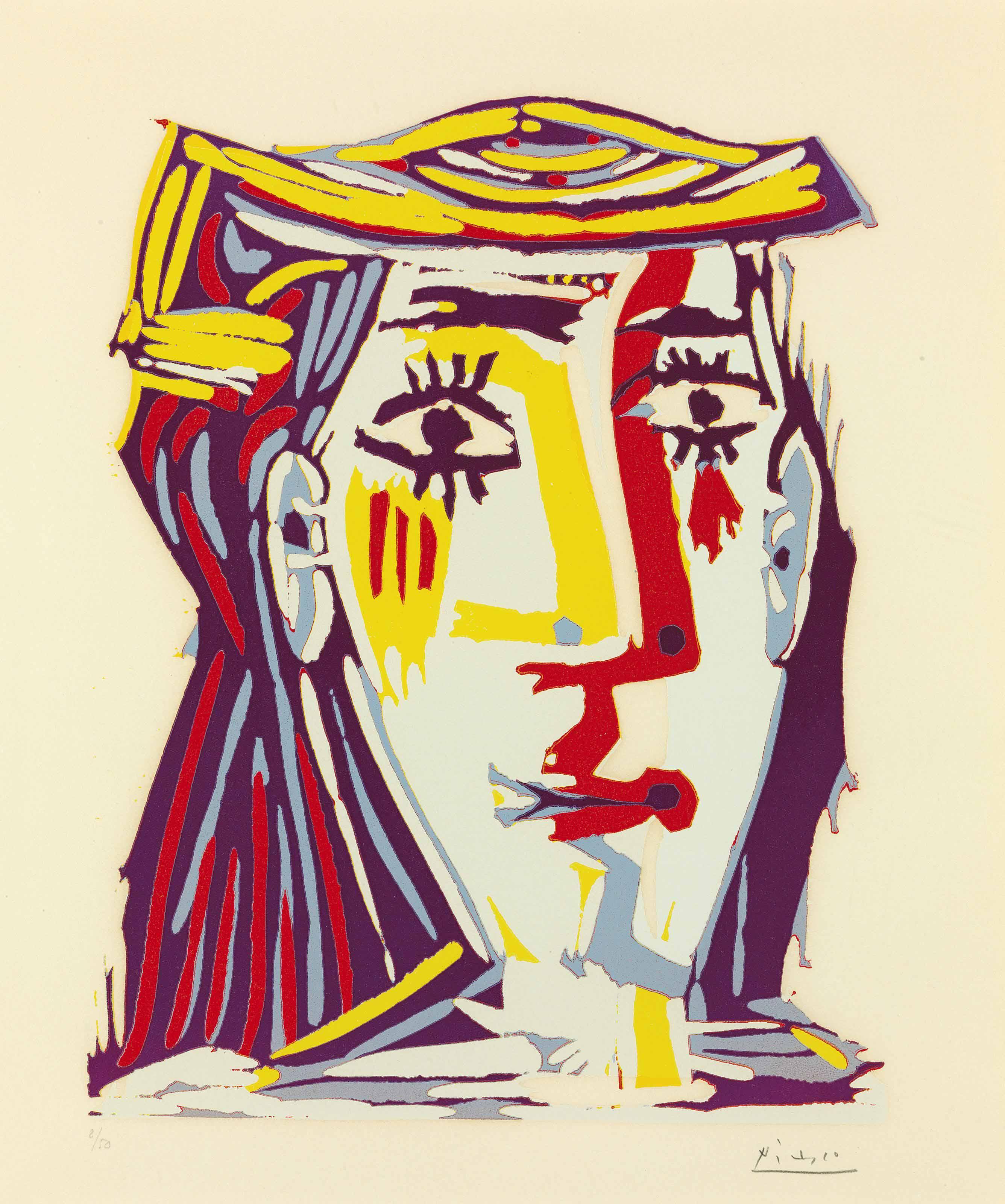 PABLO PICASSO (1881-1973) | Femme au chapeau | 1960s, Prints ...