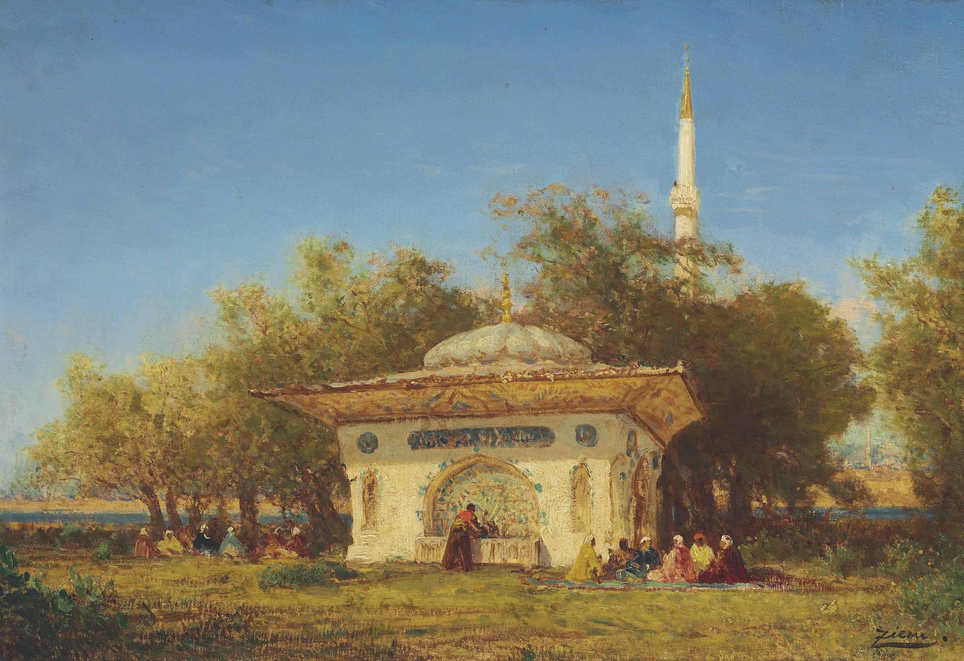 La fontaine d'Amurat environs de Constantinople