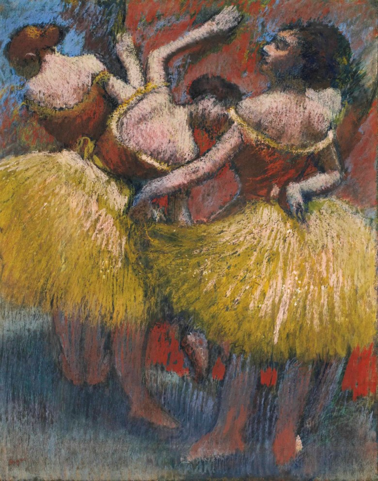 Edgar Degas (1834-1917), Trois danseuses, 1900. 25⅜ x 20⅜  in (64.5 x 51.7  cm). Sold for $11,925,000 on 14 May 2015 at Christie's in New York