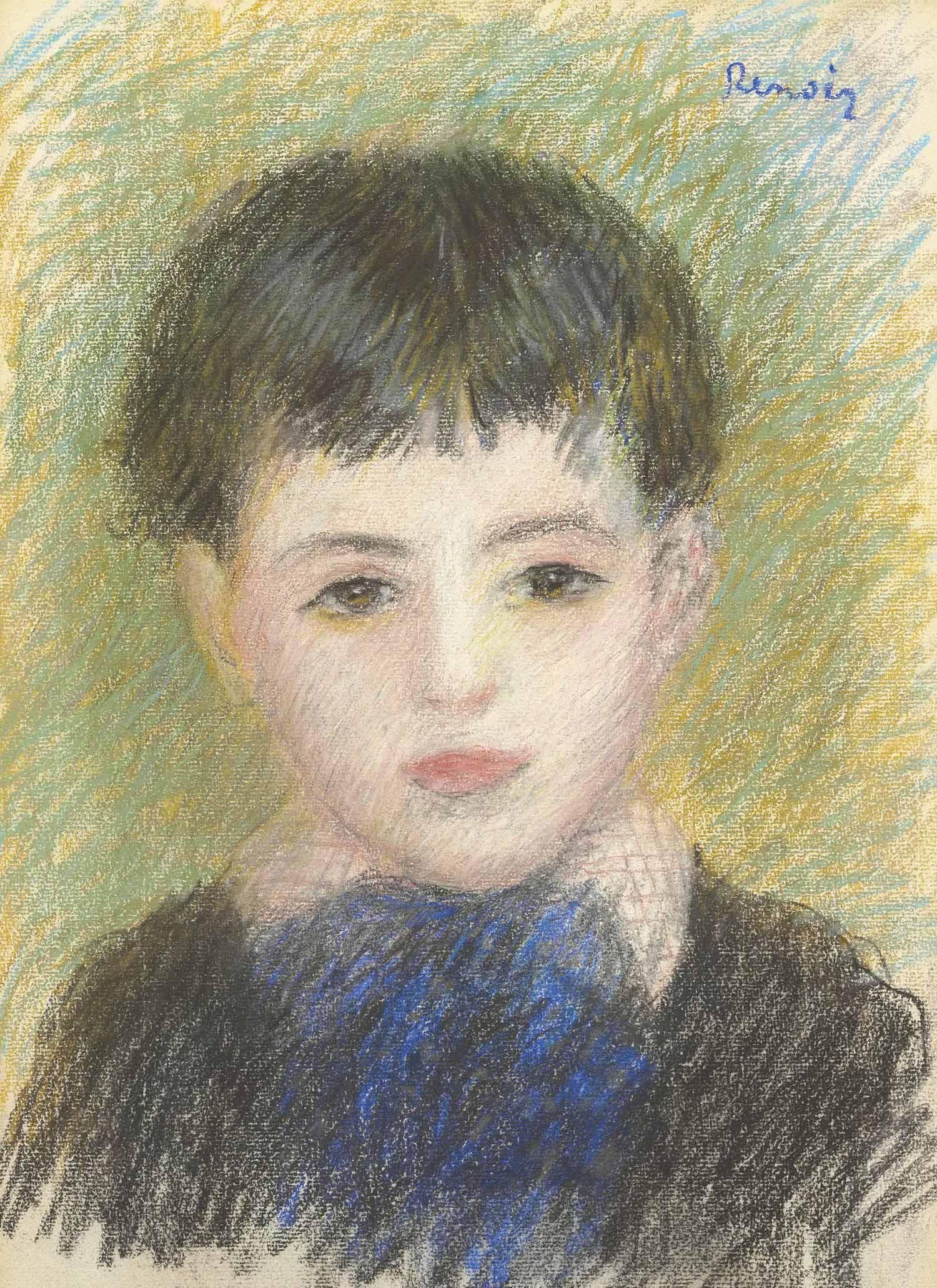 Pierre-Auguste Renoir (1841-1919) , Portrait d'un jeune ...