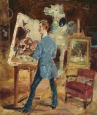 Princeteau dans son atelier
