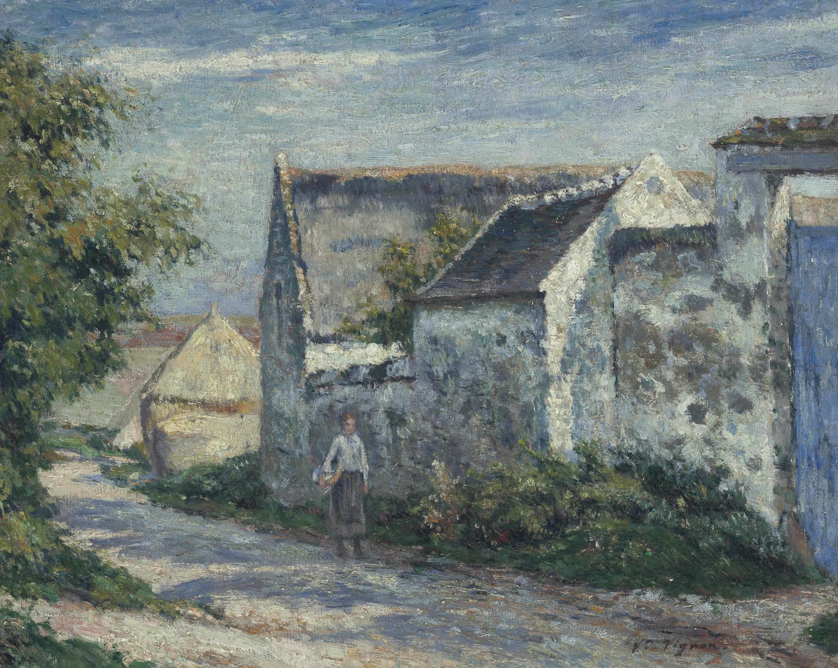 La route du village