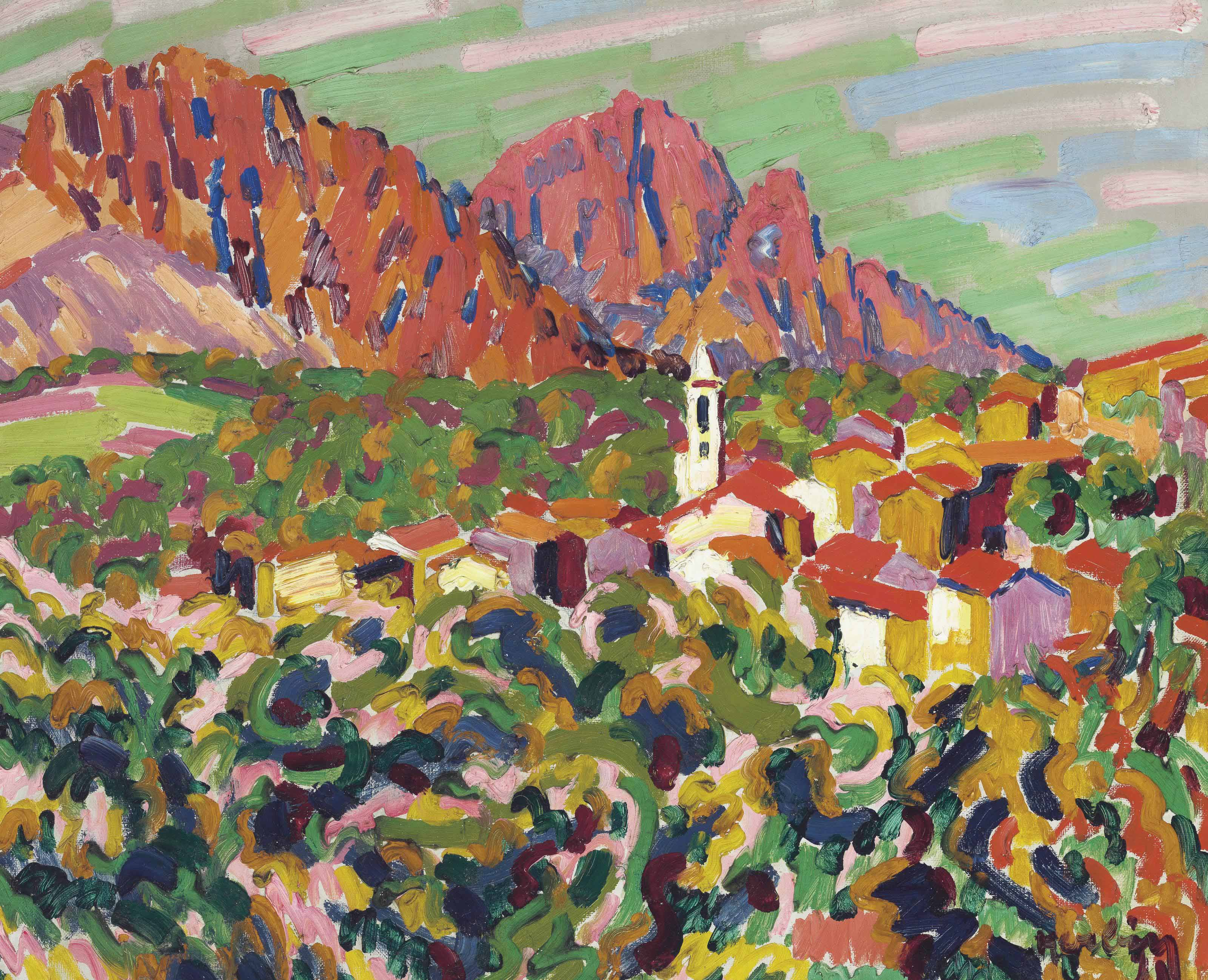 Auguste herbin 1882 1960 le matin corse christie 39 s for Auguste herbin oeuvre
