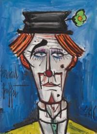 Clown au chapeau claque