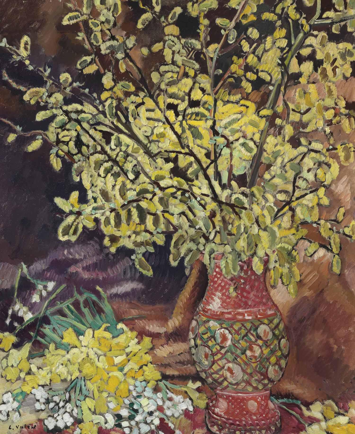 Balle de couscous et vase de fleurs