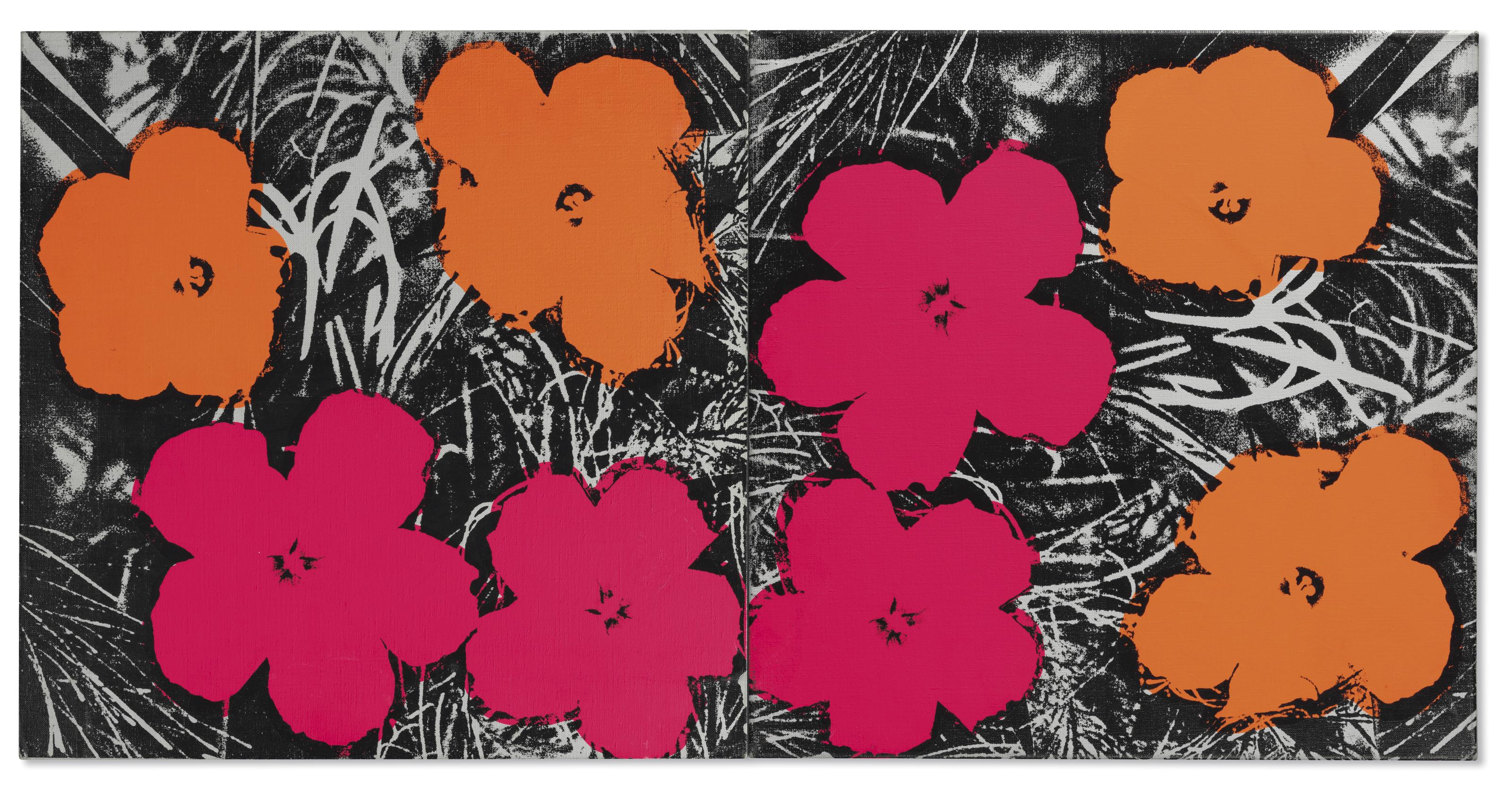 Andy warhol 1928 1987 flowers 1960s paintings christies lot 6 b izmirmasajfo Images