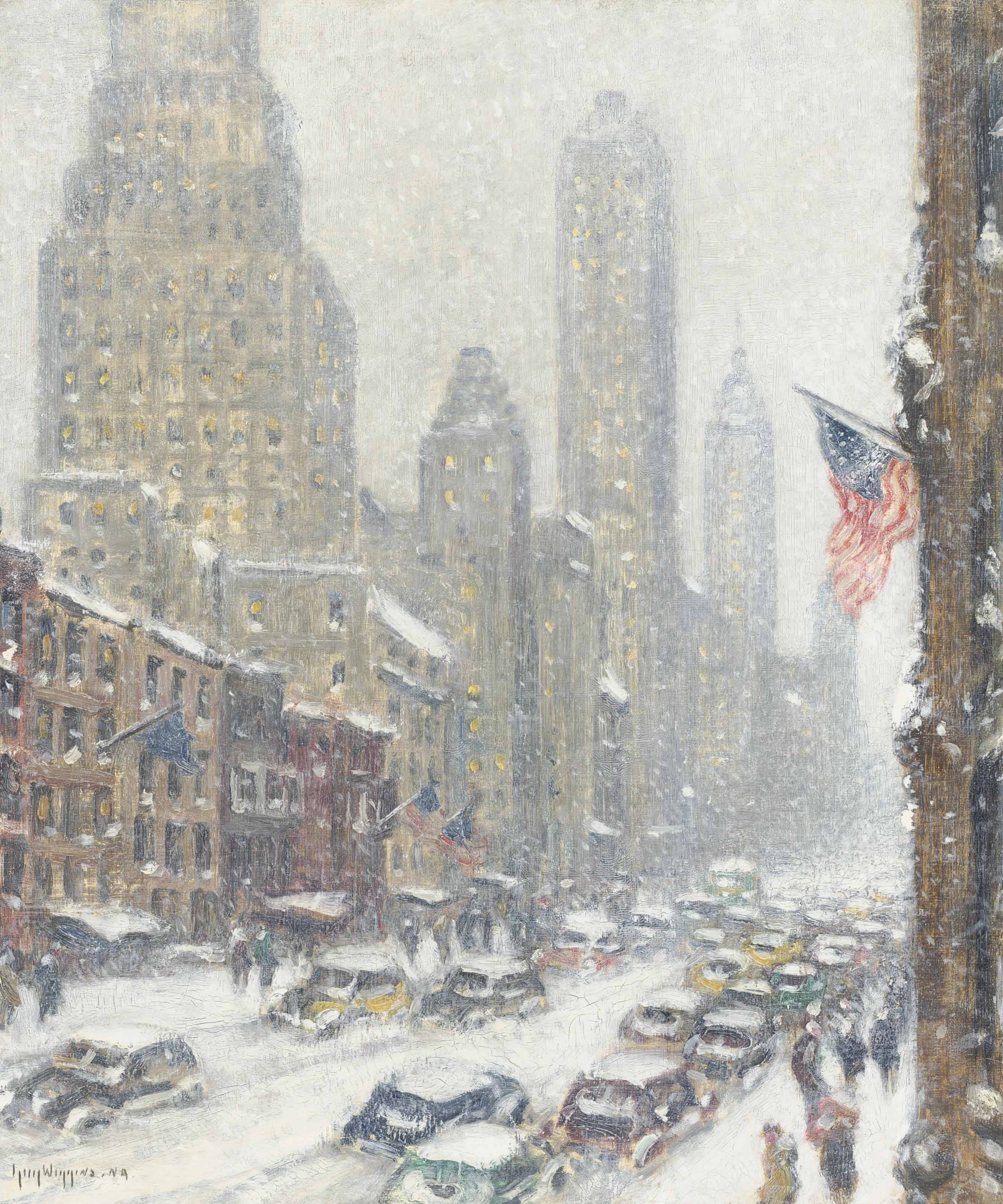 Winter--Fifty-Seventh Street Towers