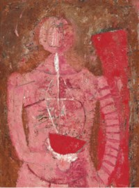 Mujer con sandía