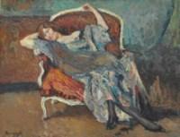 Mujer en poltrona