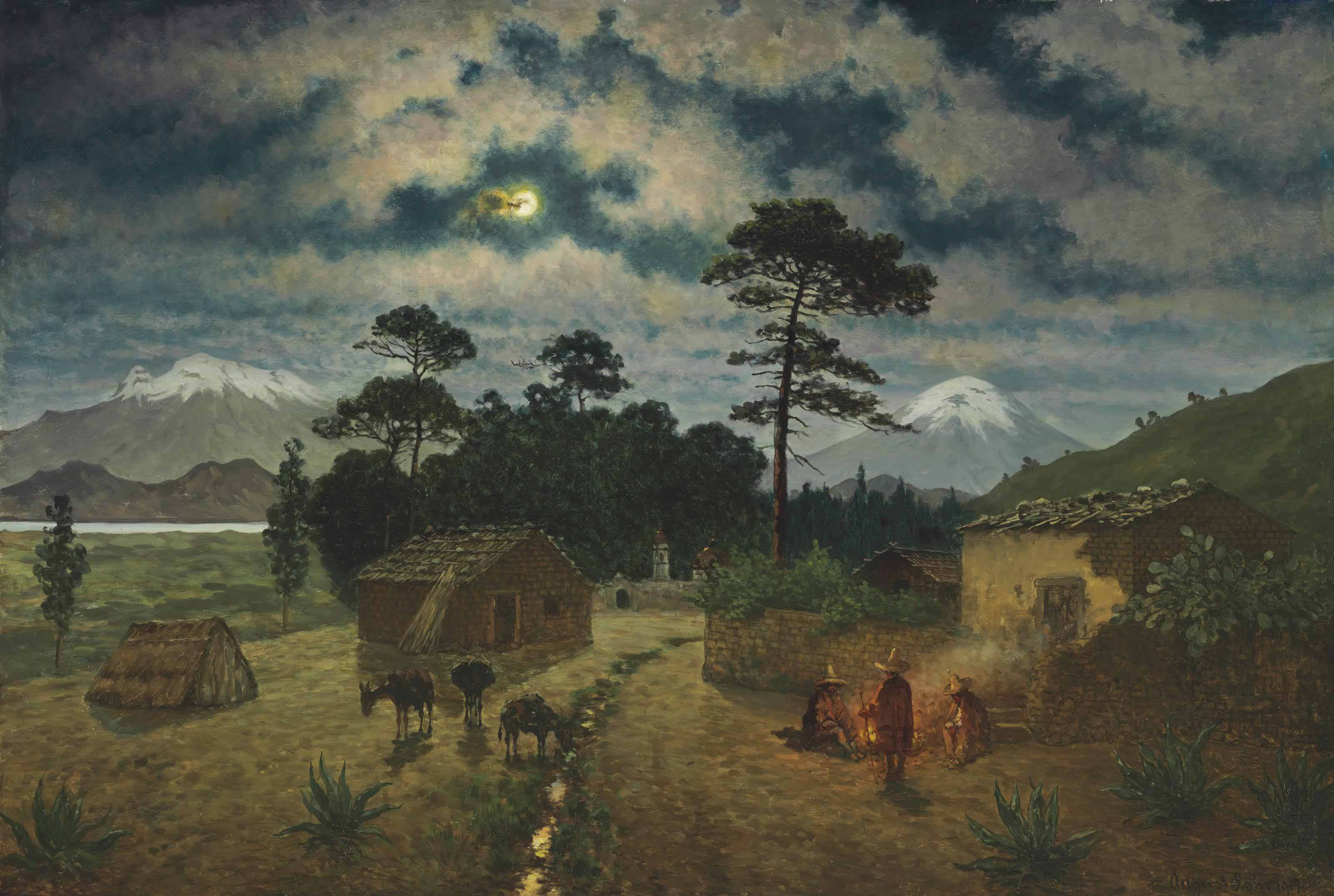 Night Landscape in the Valley of Mexico