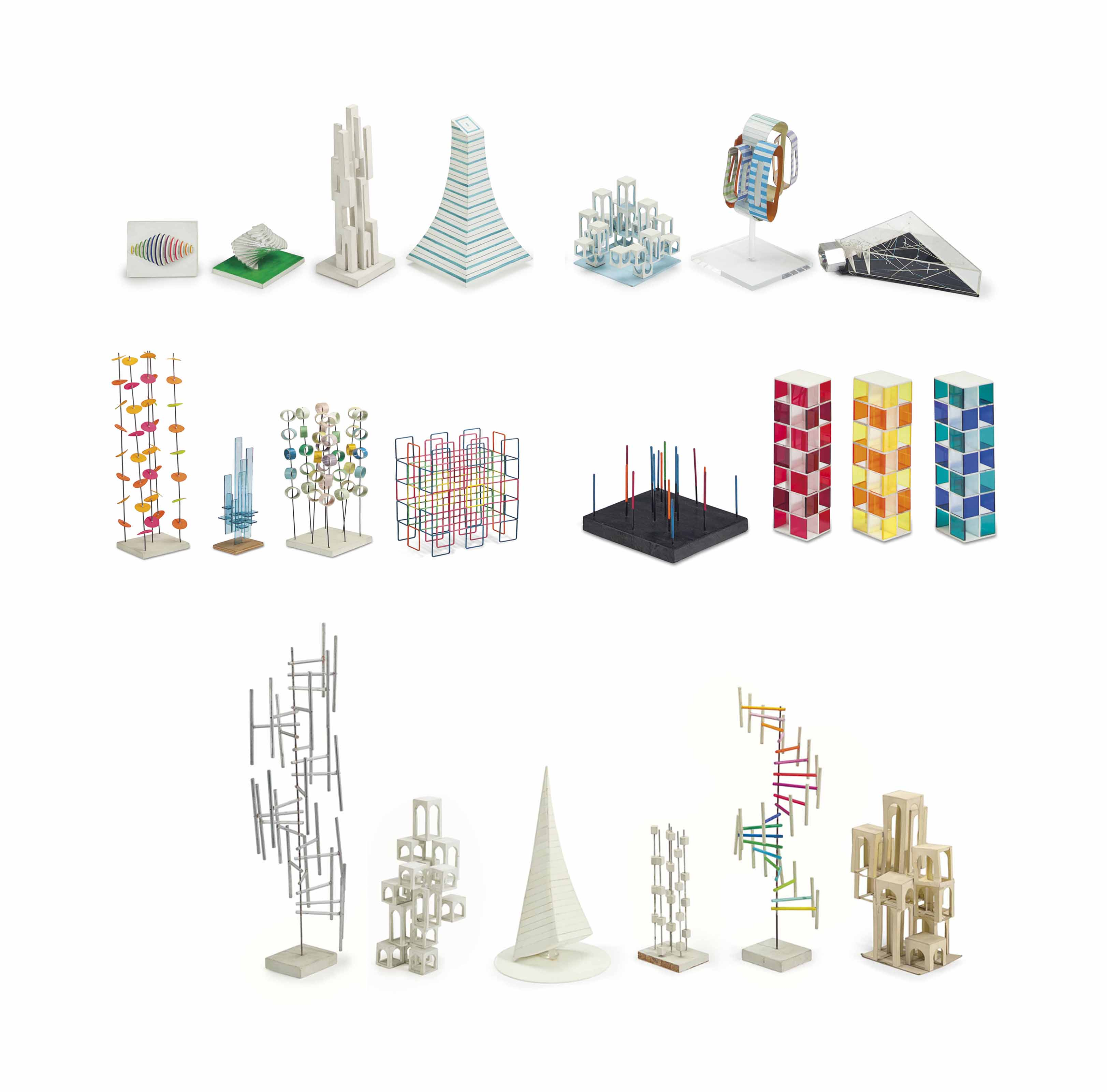 A Group of Twenty-one Maquettes