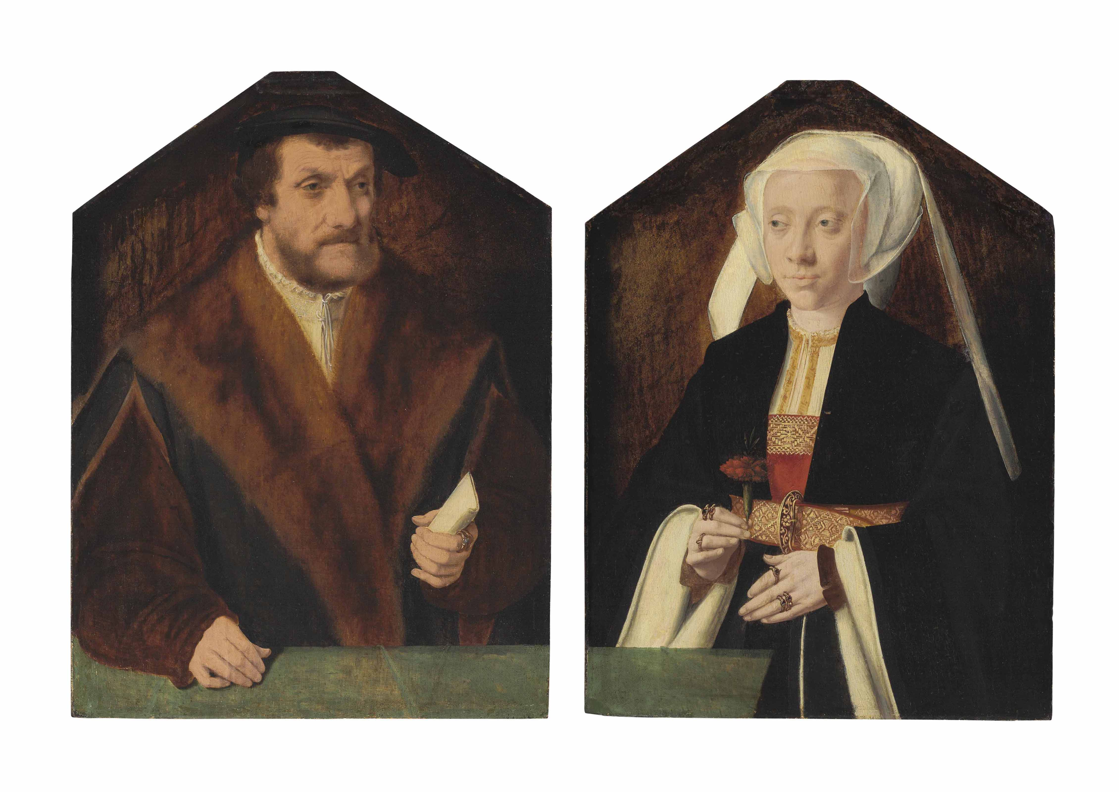 Portrait of Chancellor Balthasar von Kerpen; and Portrait of a lady, his wife