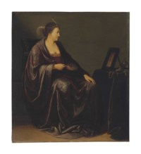 A lady seated before a mirror: an Allegory of Vanity