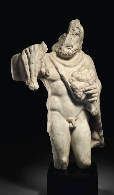 A ROMAN MARBLE SYLVANUS