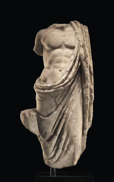 A ROMAN MARBLE ASCLEPIUS