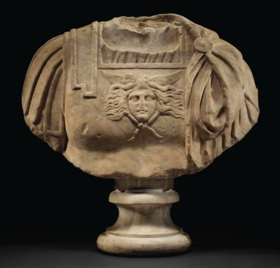A ROMAN MARBLE CUIRASSED BUST