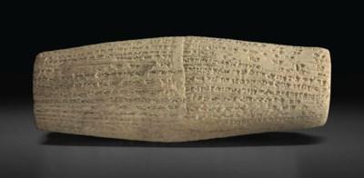 A NEO-BABYLONIAN CLAY CUNEIFOR