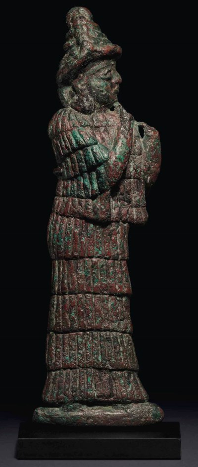 AN OLD BABYLONIAN BRONZE RELIE