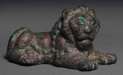 A GREEK BRONZE LION