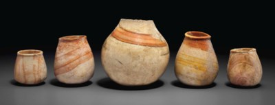 FIVE SYRIAN STONE BOWLS