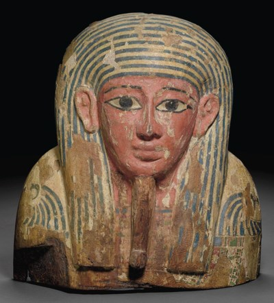 AN EGYPTIAN WOOD COFFIN LID