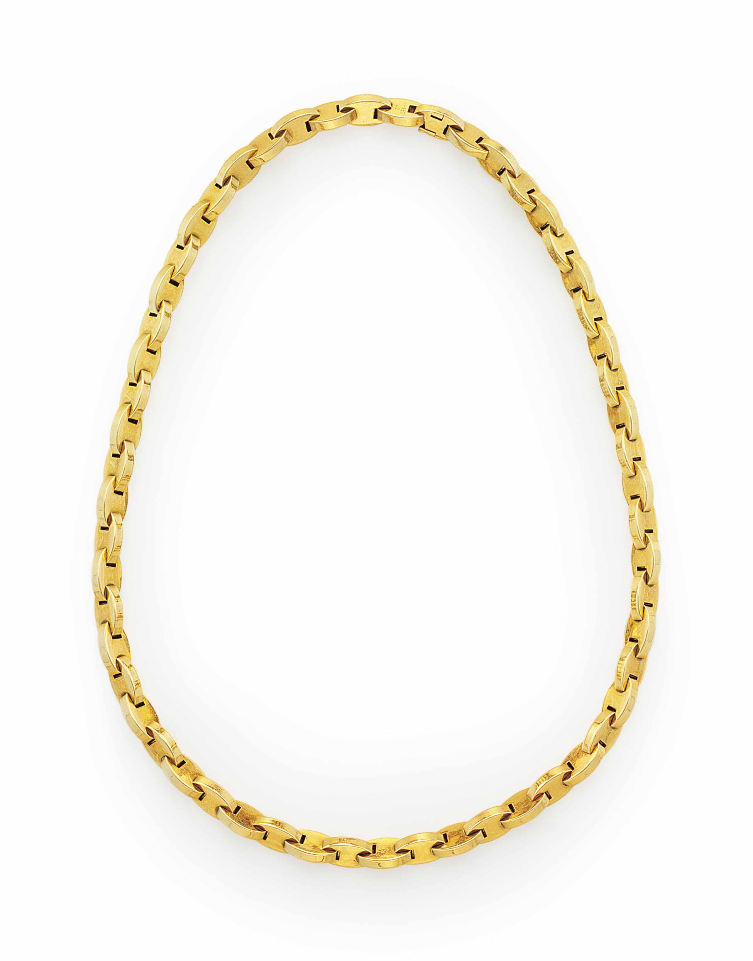 A GOLD NECKLACE, BY HERMÈS