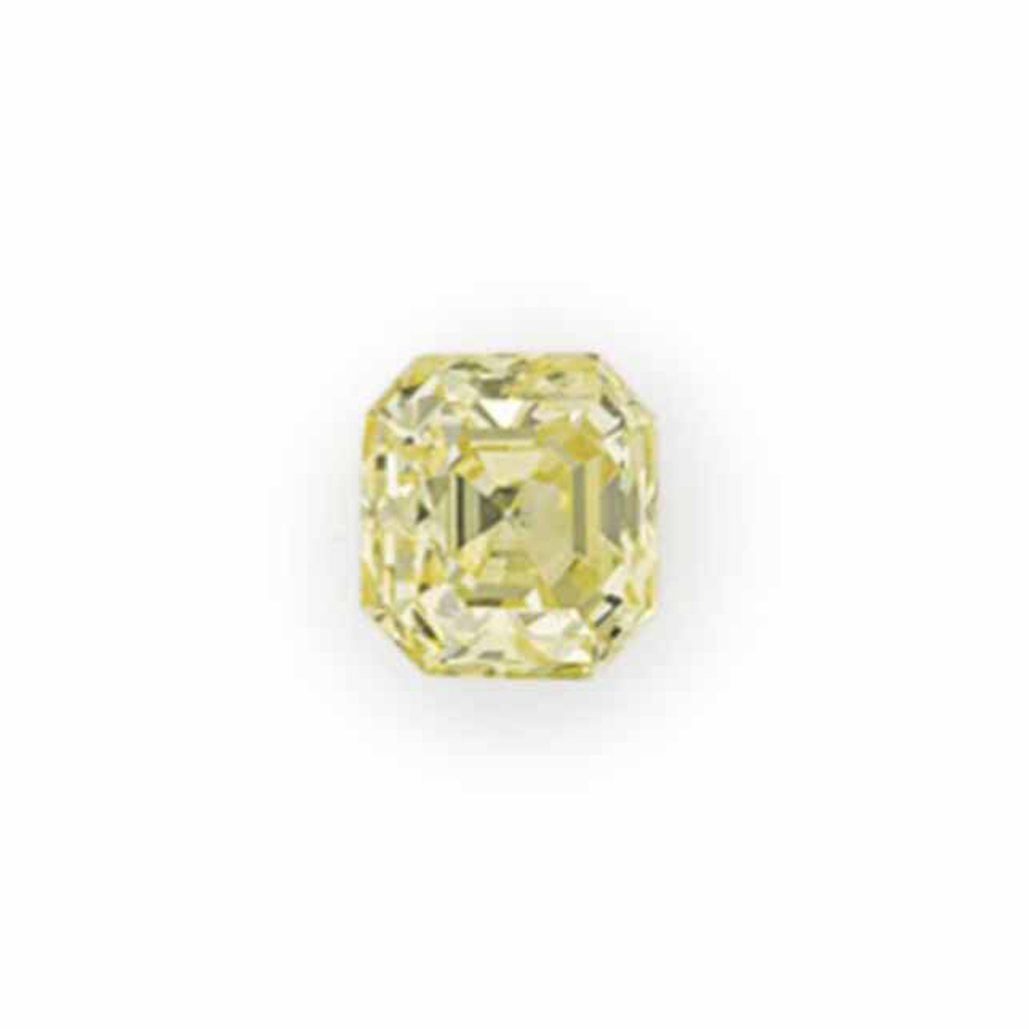 AN UNMOUNTED COLORED DIAMOND
