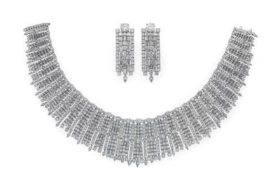 A SET OF DIAMOND JEWELRY, BY J