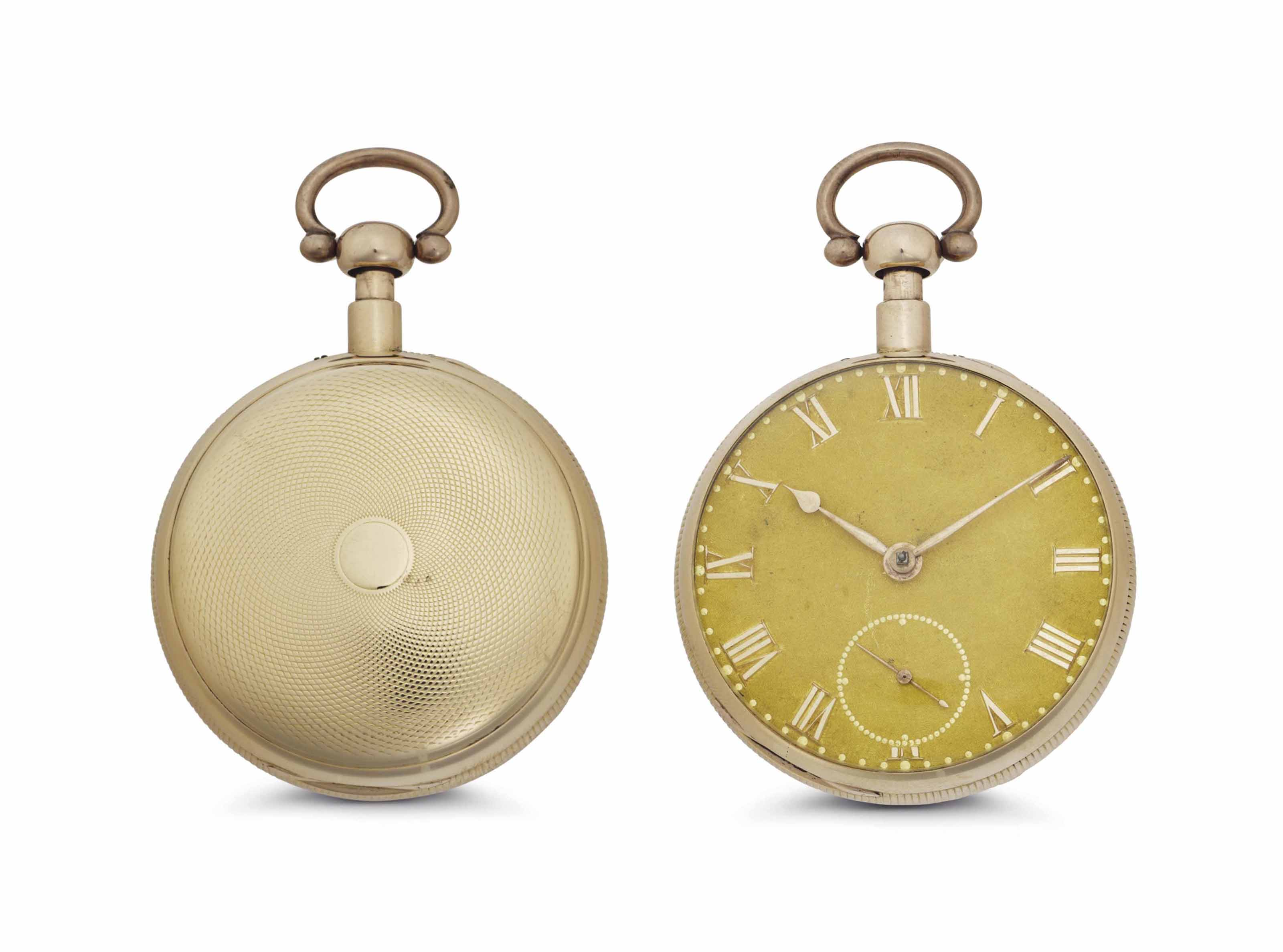 Barwise. An 18k Pink Gold Quarter Repeating Openface Keywound Duplex Pocket Watch