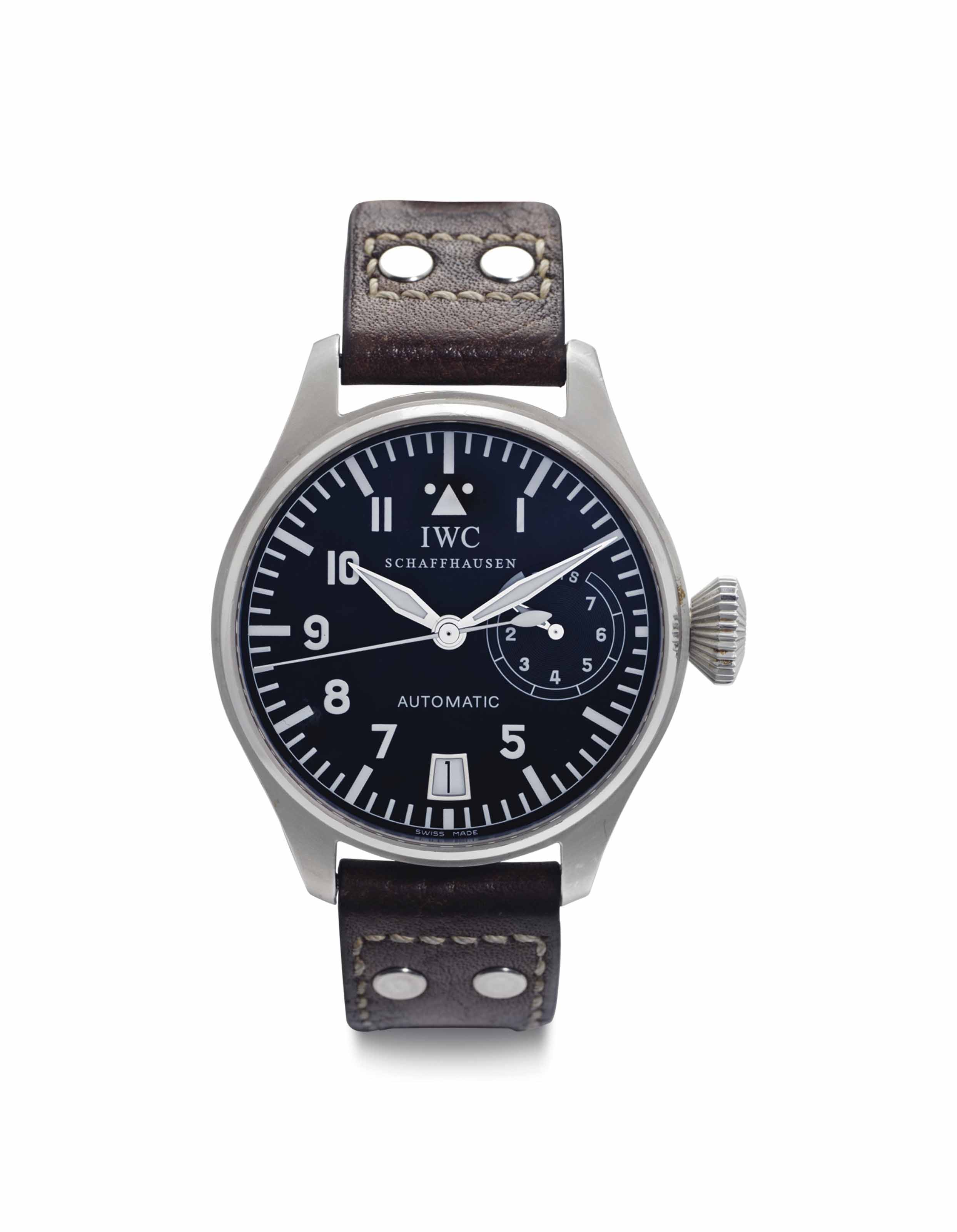 IWC. A Large Stainless Steel A