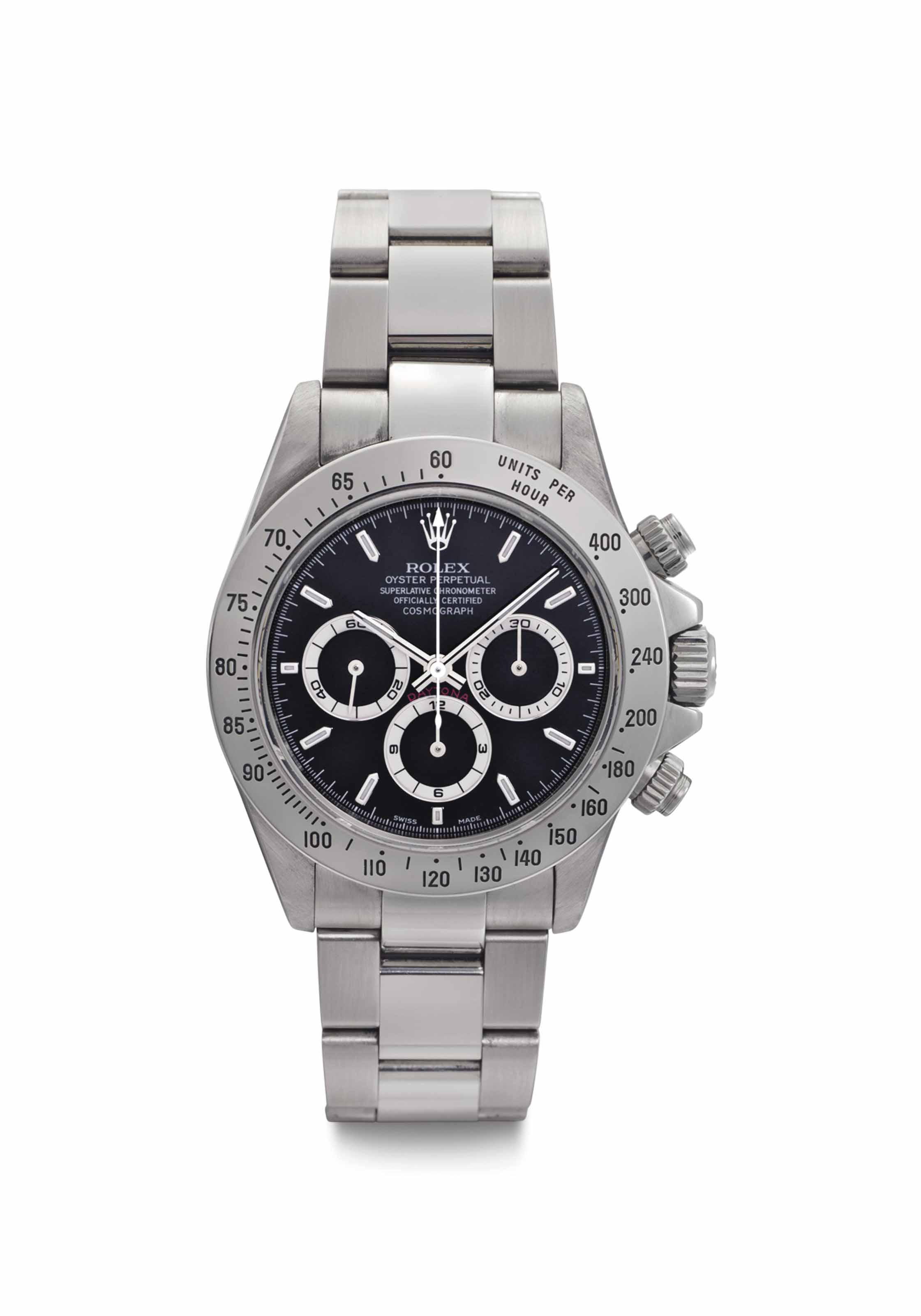 Rolex. A Fine and Rare Stainless Steel Chronograph