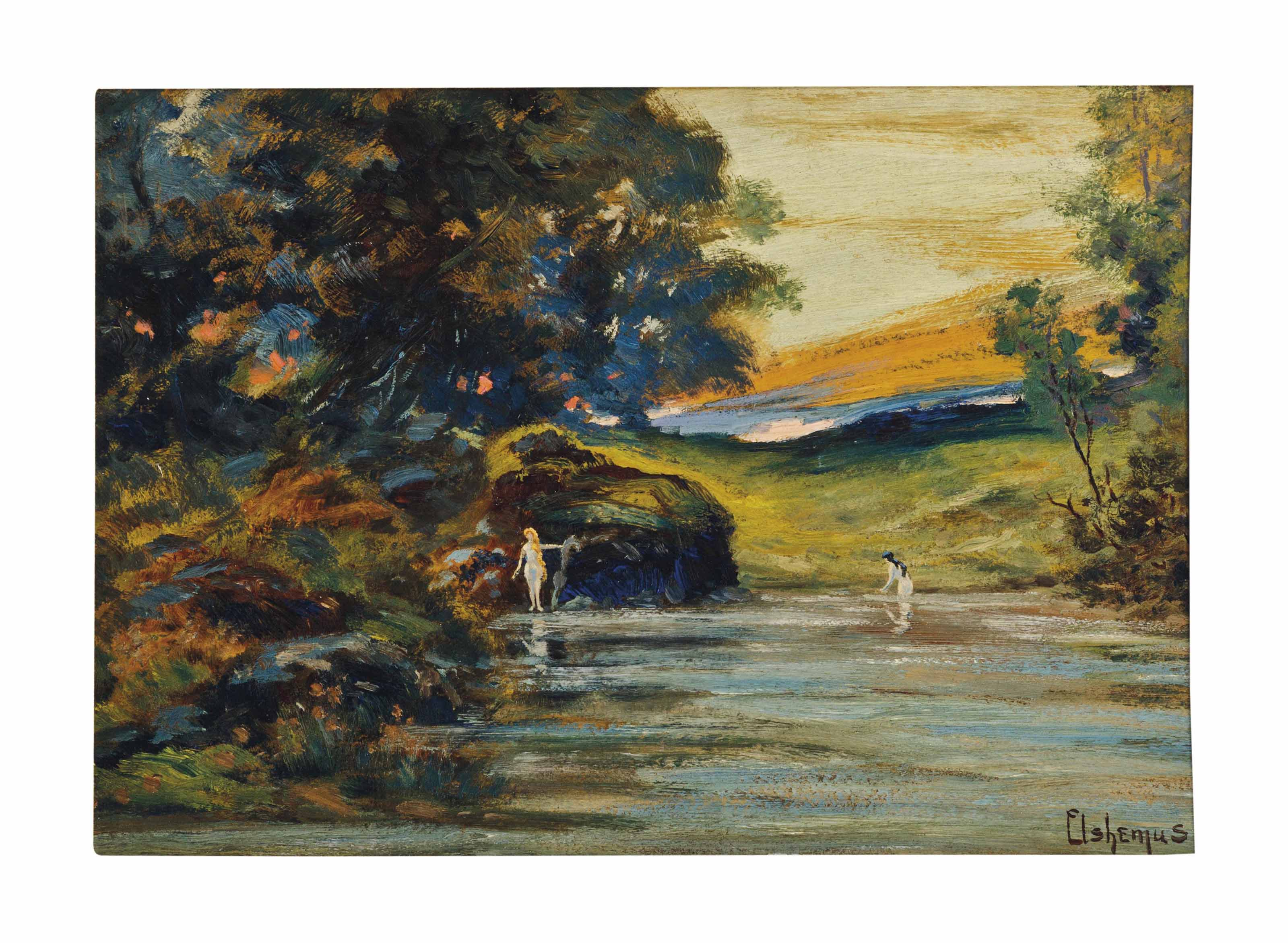Bathers at Evening