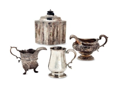 A GROUP OF ENGLISH SILVER TABL
