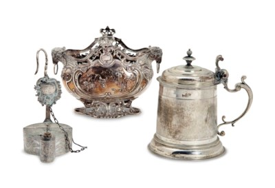 THREE CONTINENTAL SILVER TABLE