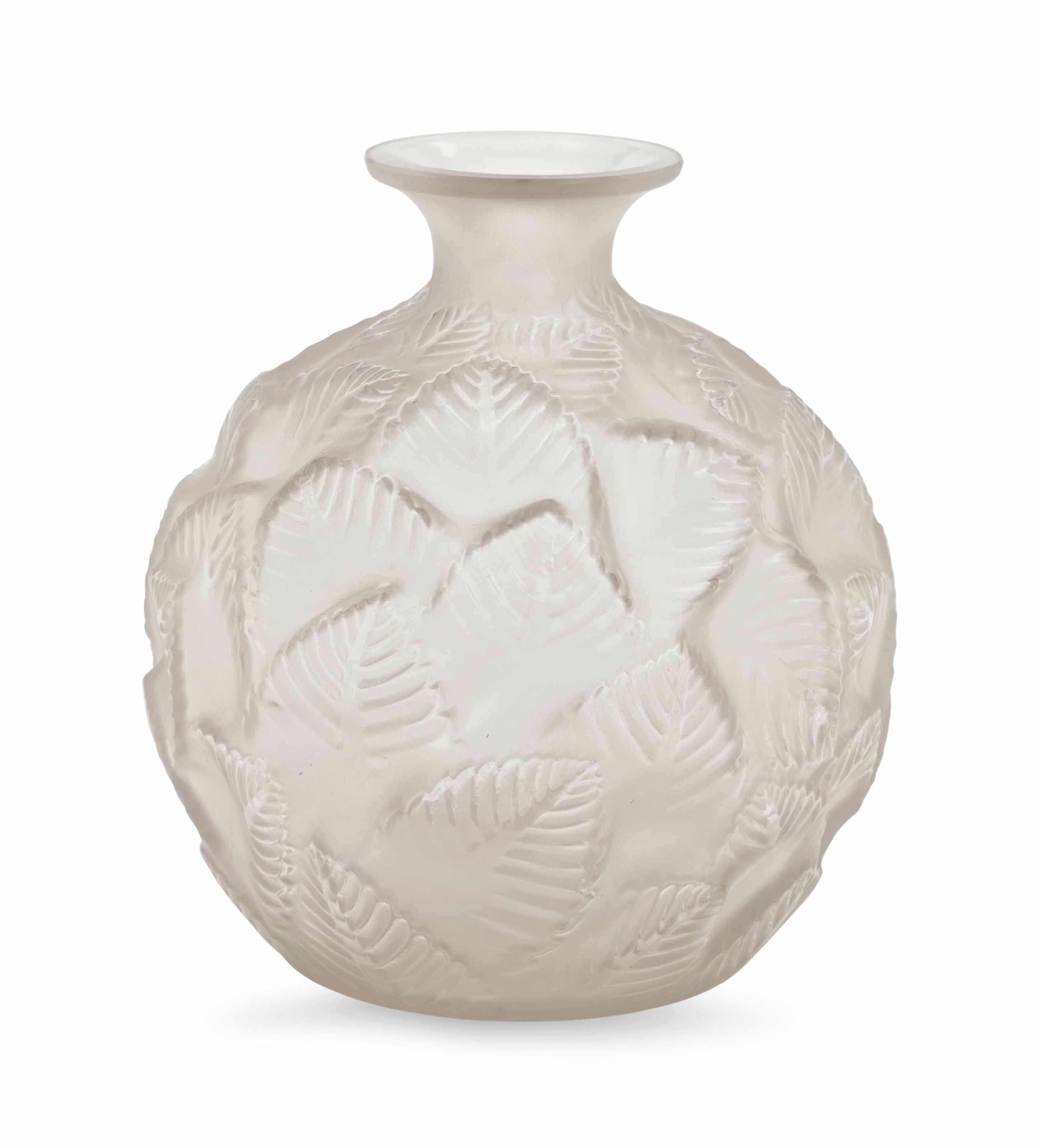 A FRENCH FROSTED VASE VASE, OR