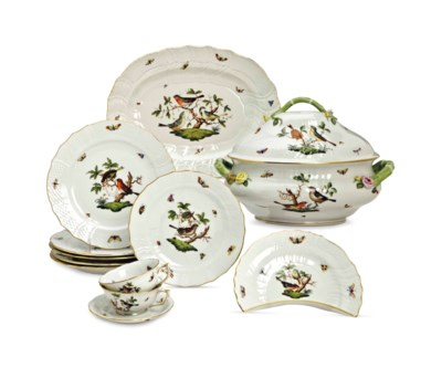 A HUNGARIAN PORCELAIN PART DIN