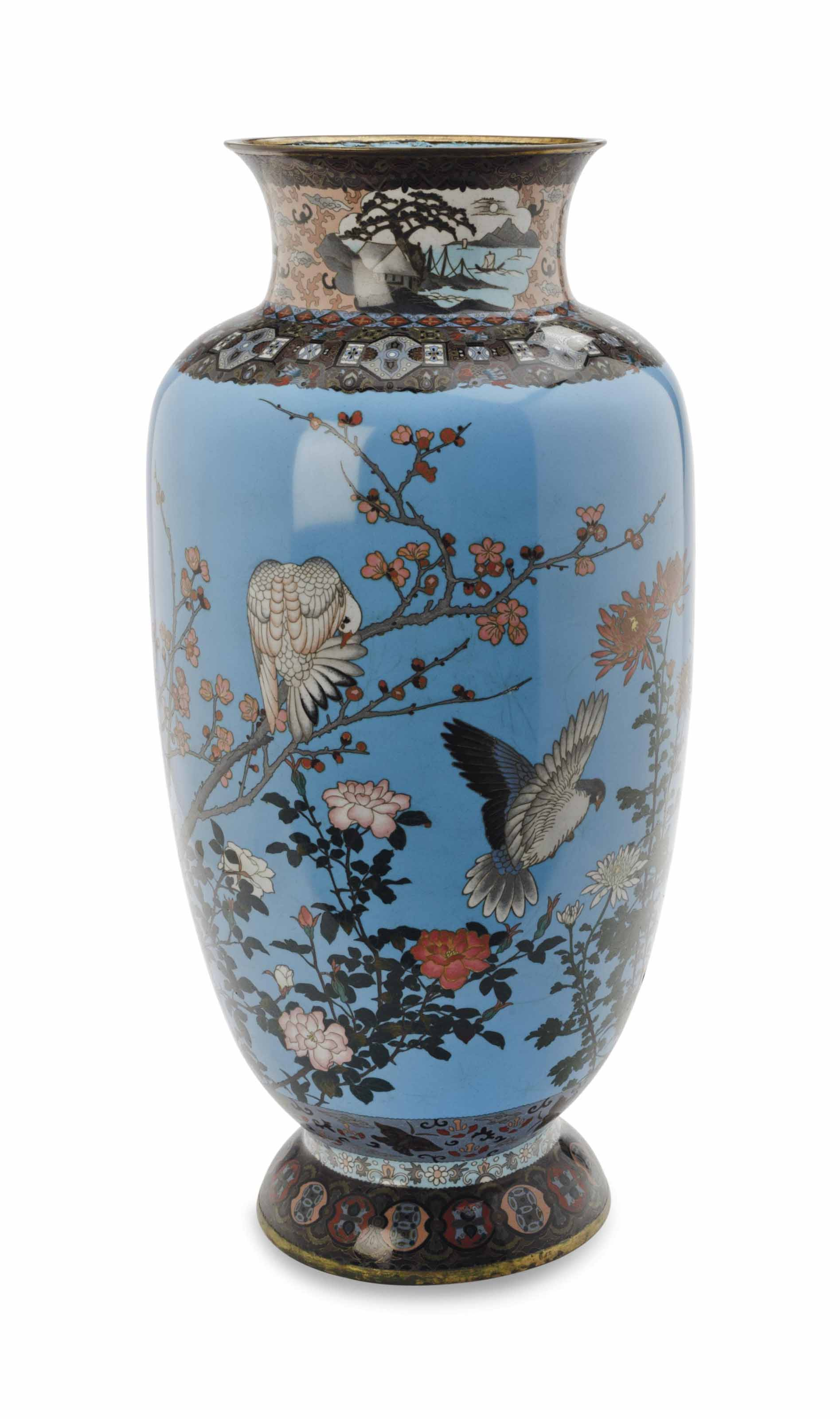 A JAPANESE CLOISONNE LARGE BAL