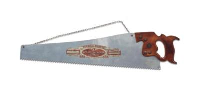 AN ENGLISH SAW-FORM TRADE SIGN