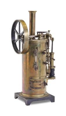A BRASS MODEL OF A STEAM ENGIN