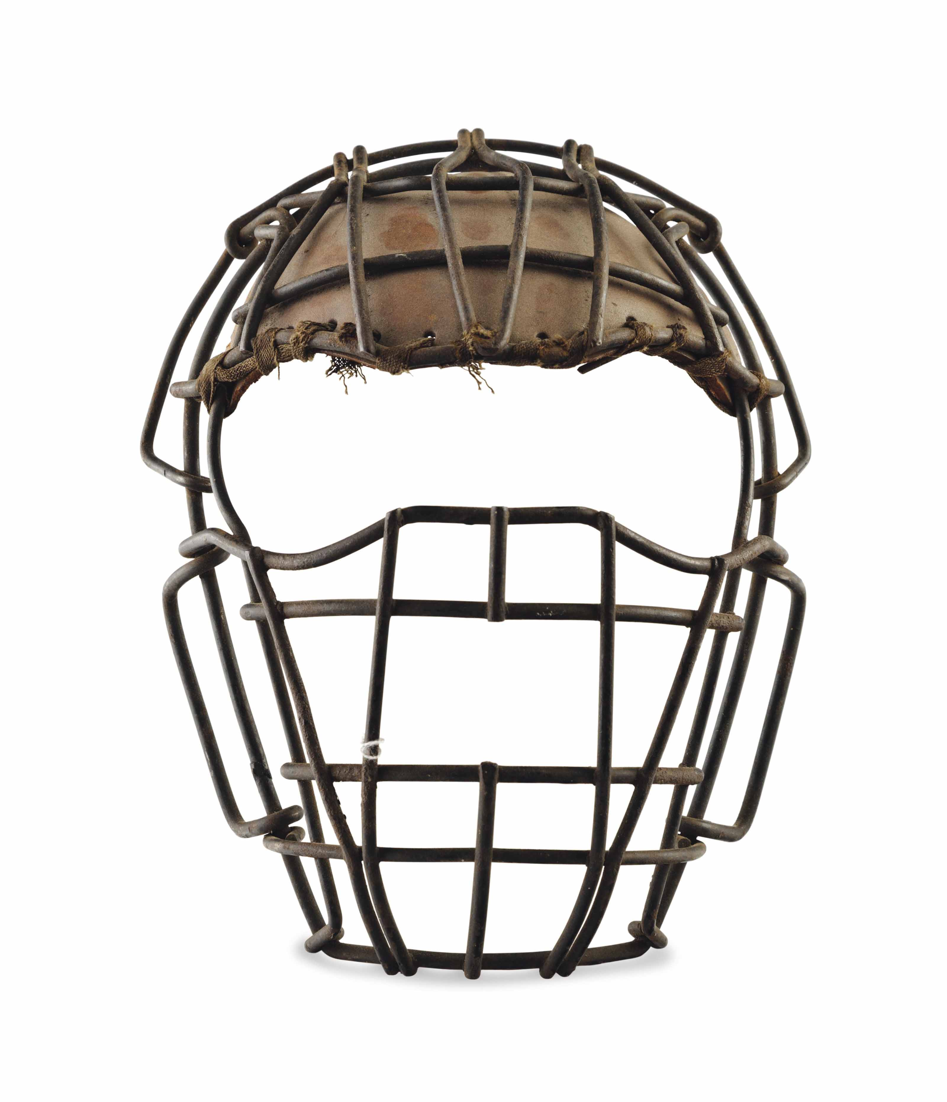 A METAL AND LEATHER CATCHER'S