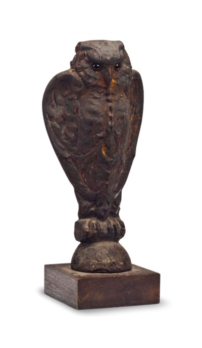 A CAST-IRON FENCE FINIAL,