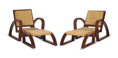 A PAIR OF MAHOGANY ARMCHAIRS A