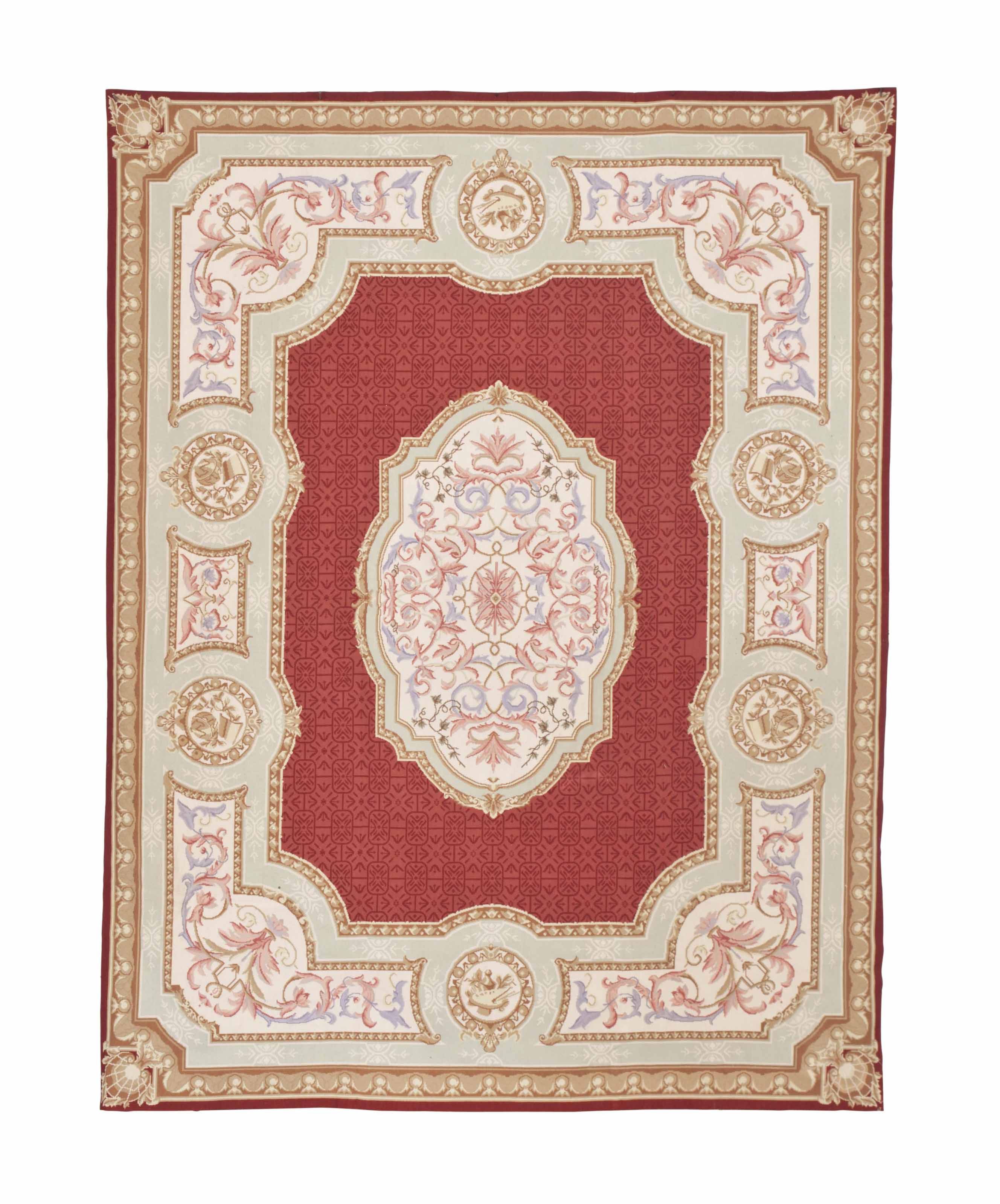 A CHINESE AUBUSSON STYLE CARPE