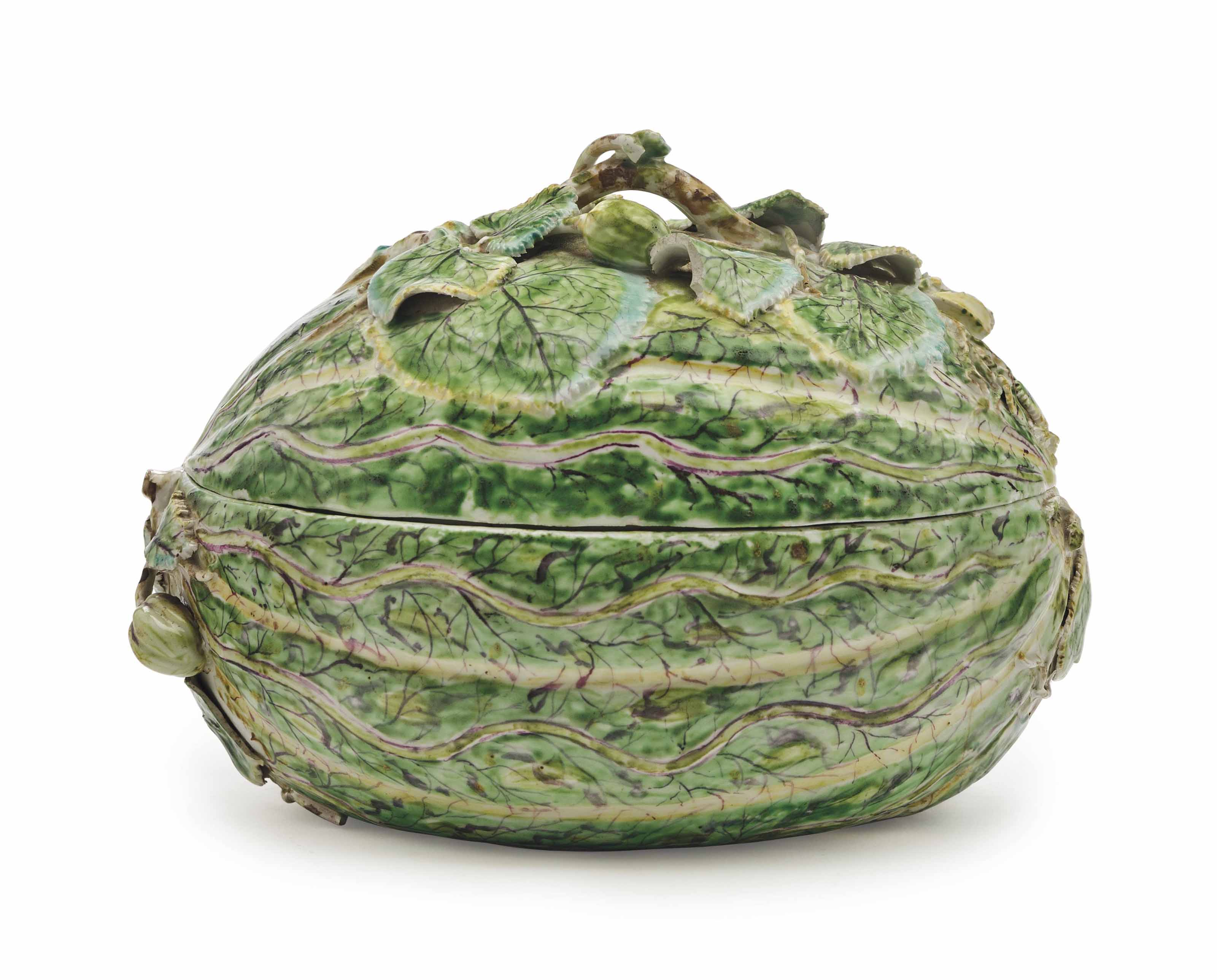 A LONGTON HALL PORCELAIN MELON