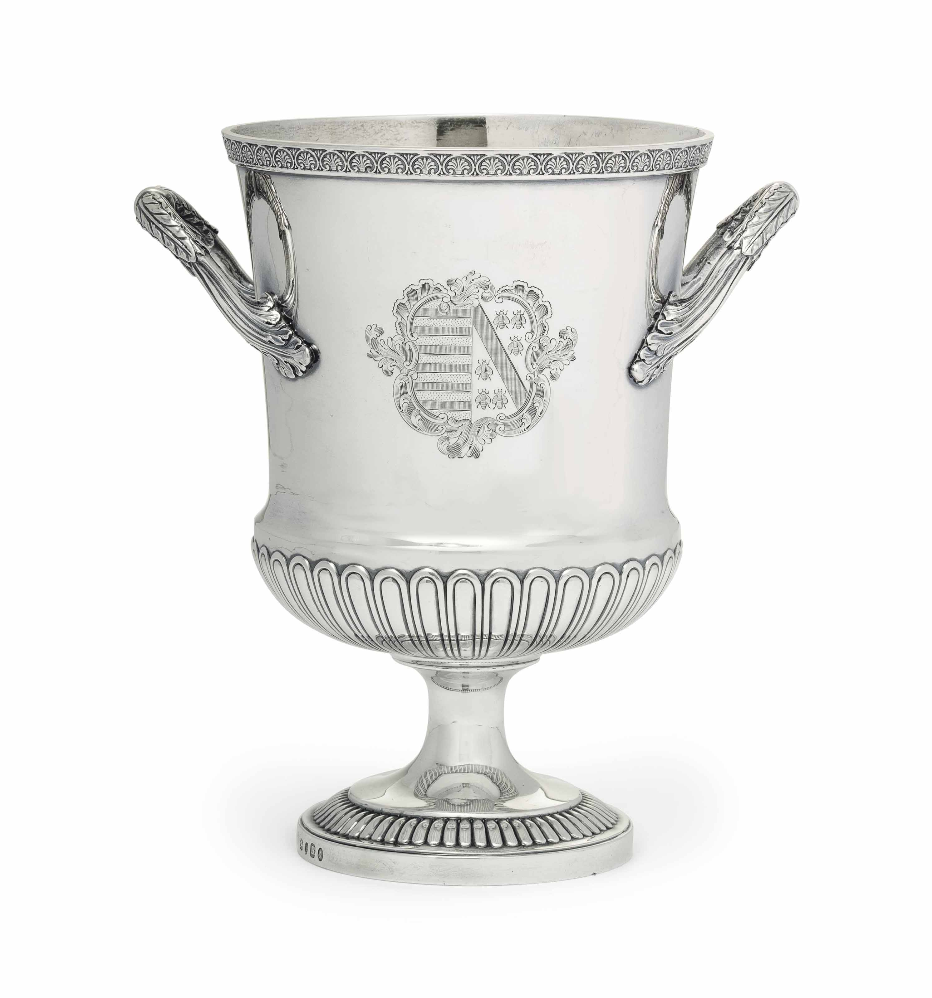 A REGENCY SILVER TWO-HANDLED CUP