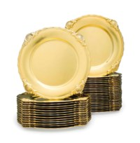 A SET OF THIRTY-SIX AMERICAN SILVER-GILT DINNER PLATES